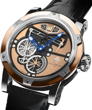 transcontinental gold steel Louis Moinet Limited Edition