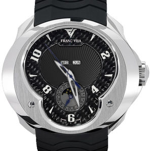 FVa7 Black Dial White Numerals Franc Vila Complication