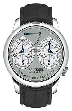 chronometre a resonance pt grey leather F.P.Journe Souveraine