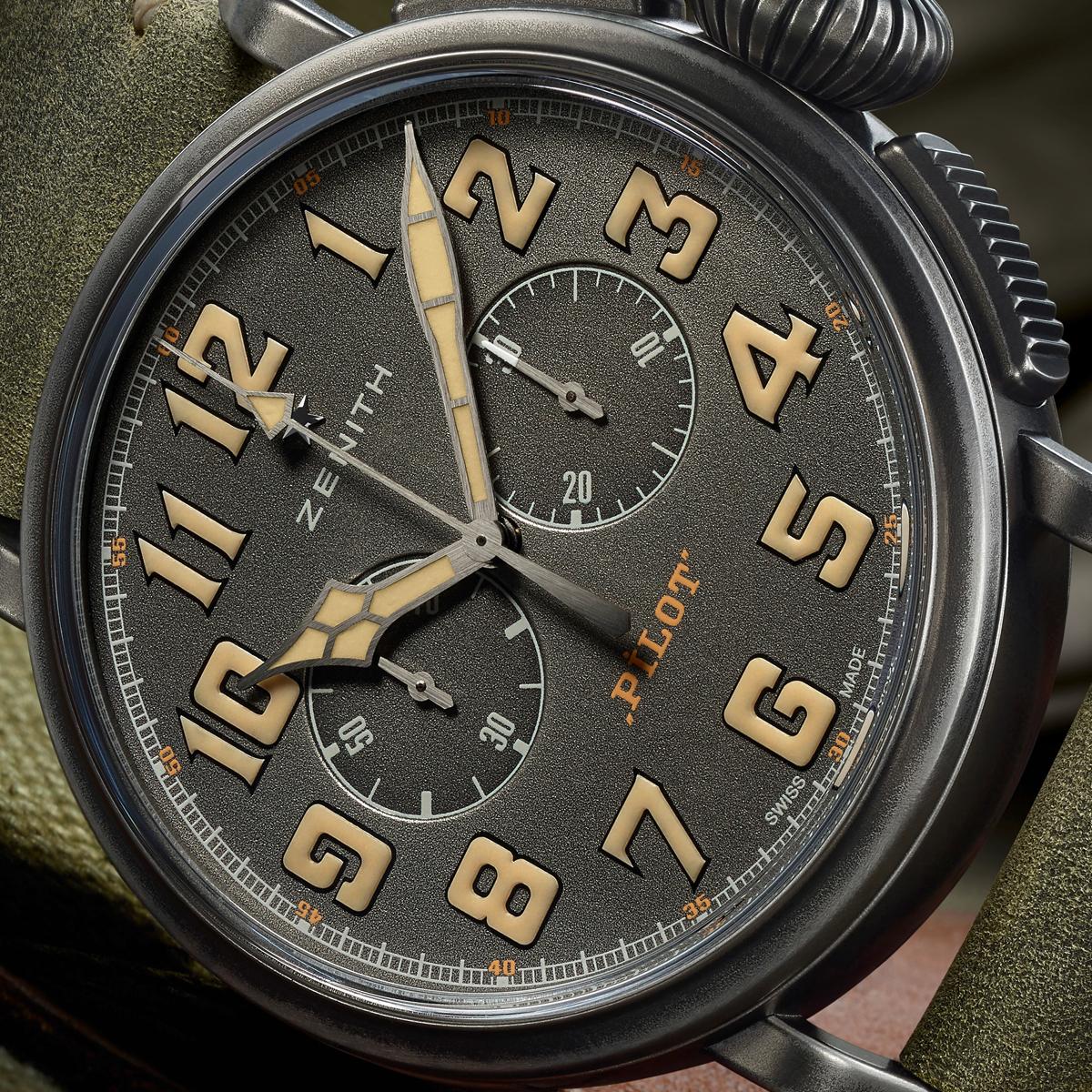 Точные копии часов Zenith Heritage Pilot Cafe Racer Spirit